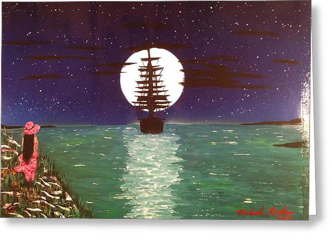 Greeting Card featuring the painting Sail Away by Michael Rucker