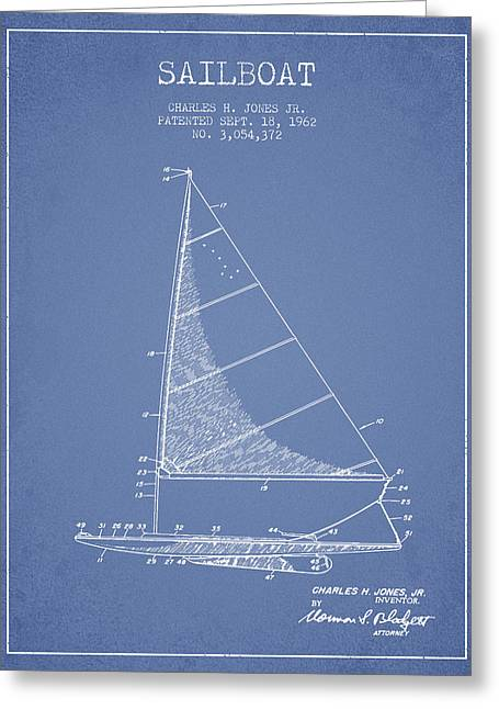 Sailboat Patent From 1962 - Vintage Greeting Card by Aged Pixel