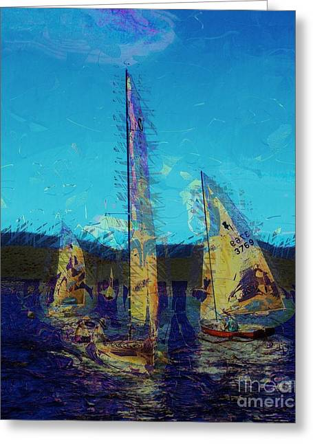 Sailing Day Greeting Card by Julie Lueders