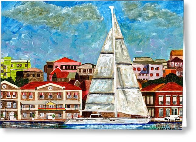Sailing In Greeting Card by Laura Forde