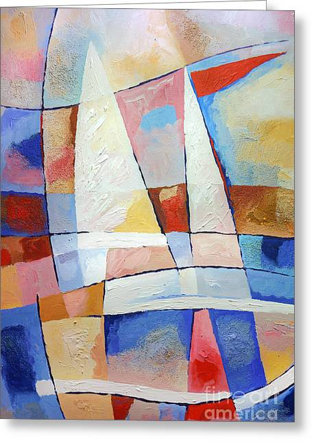 Sailing Joy Greeting Card by Lutz Baar