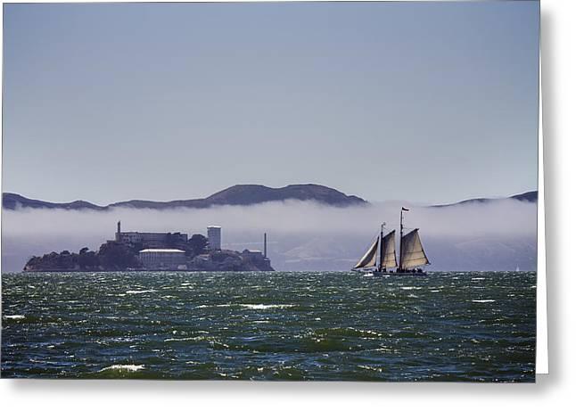 Sailing To Alcatraz Greeting Card