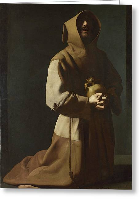 Saint Francis In Meditation Greeting Card