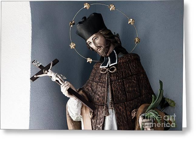 Saint John Of Nepomuk Greeting Card by Agnieszka Kubica
