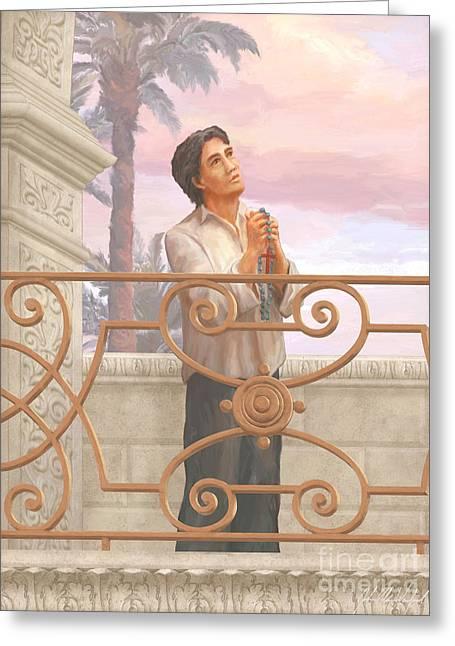 Saint Lorenzo Ruiz Greeting Card by John Alan  Warford
