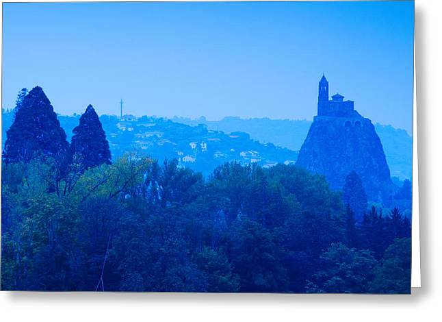 Saint Michel Daiguilhe Chapel At Dawn Greeting Card by Panoramic Images