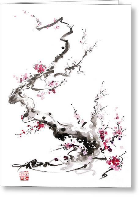 Sakura Spring Blossom. Greeting Card by Mariusz Szmerdt