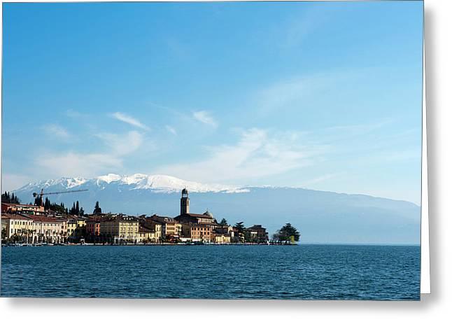 Salo, Lago Di Garda, Lombardia, Italy Greeting Card by Sergio Pitamitz