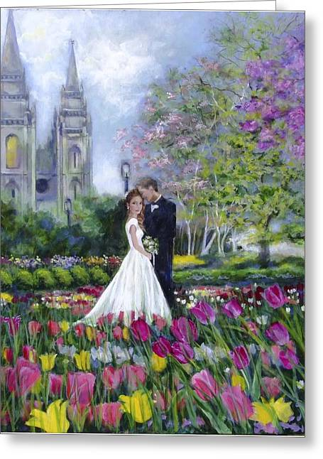 Salt Lake Temple-married In Spring Greeting Card
