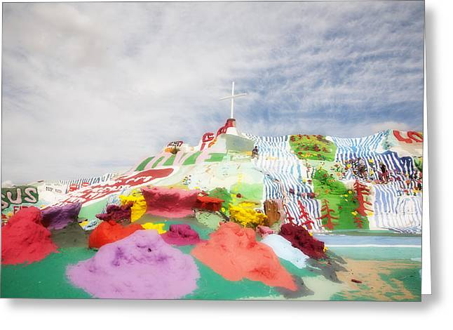 Salvation Mountain Greeting Card by Hugh Smith