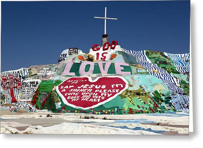 Salvation Mountain In Callpatria Greeting Card by Carol M Highsmith