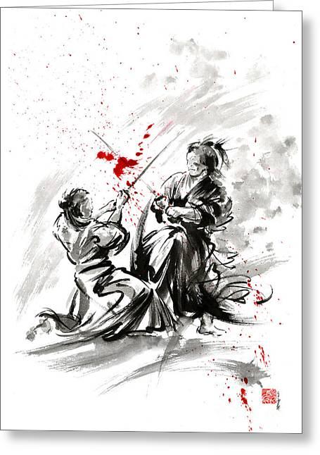 Samurai Bushido Code Greeting Card by Mariusz Szmerdt