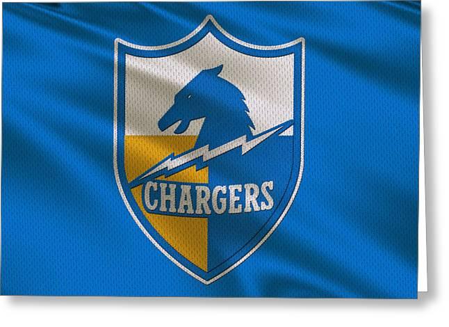 San Diego Chargers Uniform Greeting Card