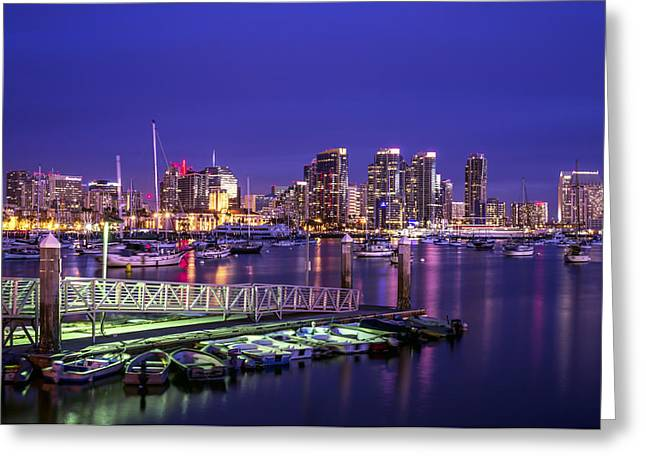 San Diego Harbor Greeting Card by Joseph S Giacalone