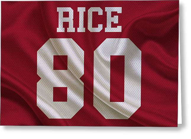San Francisco 49ers Jerry Rice Greeting Card