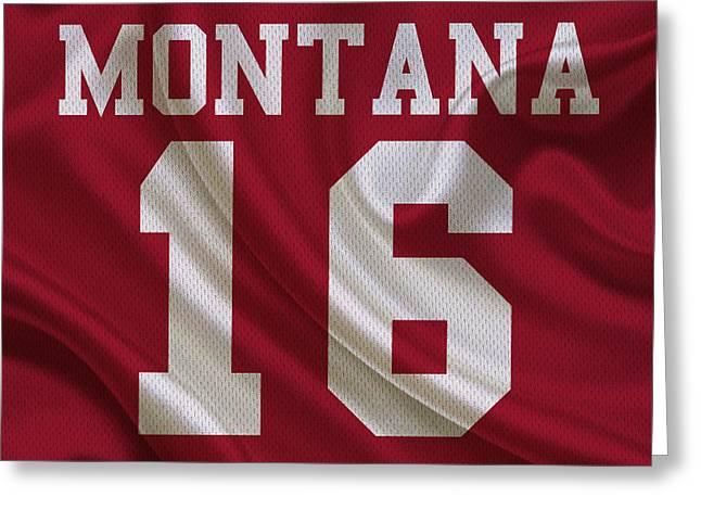 San Francisco 49ers Joe Montana Greeting Card