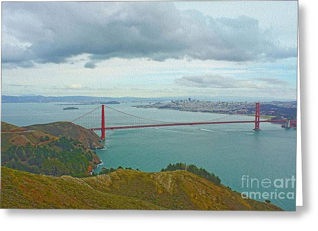San Francisco Greeting Card by Nur Roy