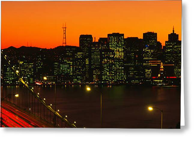 San Franscisco Ca Greeting Card by Panoramic Images