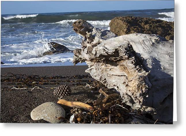 San Simeon Beach Greeting Card by Jose M Beltran