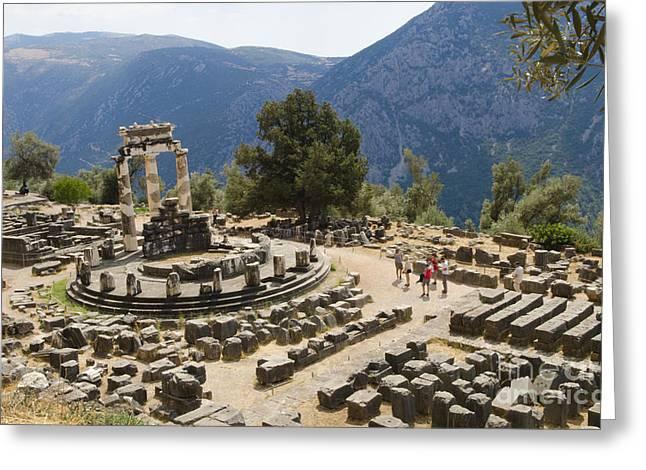 Sanctuary Of Athena At Delphi Greeting Card