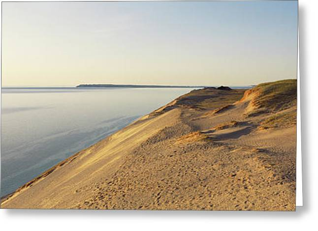 Sand Dunes At The Lakeside, Sleeping Greeting Card by Panoramic Images