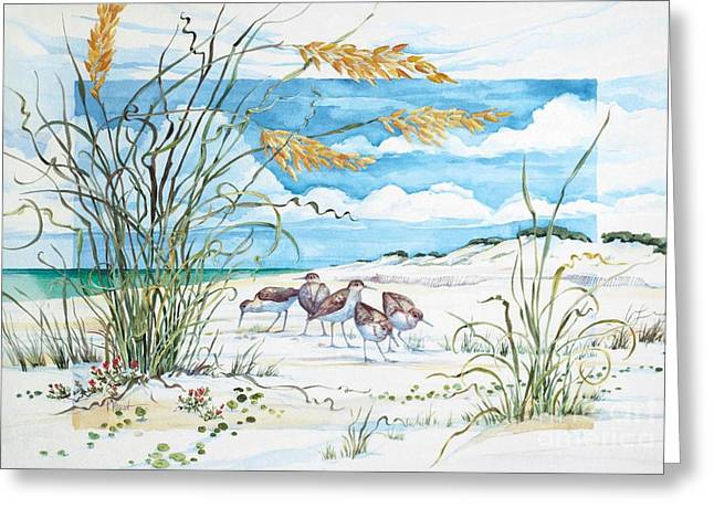 Sandpiper Dunes Greeting Card by Paul Brent