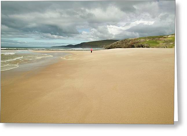 Sandwood Bay In Sutherland Greeting Card by Ashley Cooper