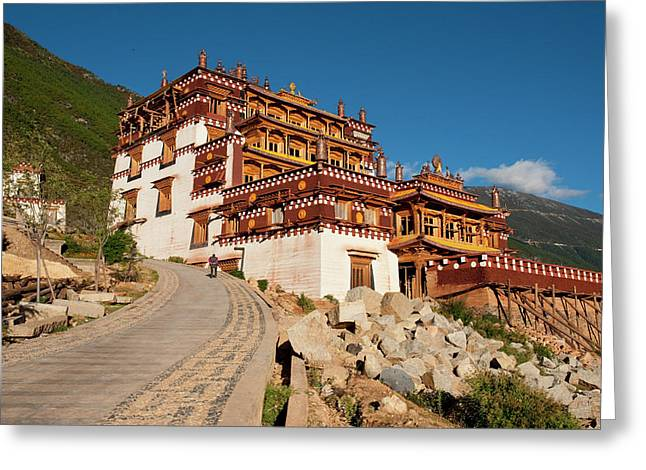 Sangpi Luobuling Si Monastery Greeting Card by Howie Garber