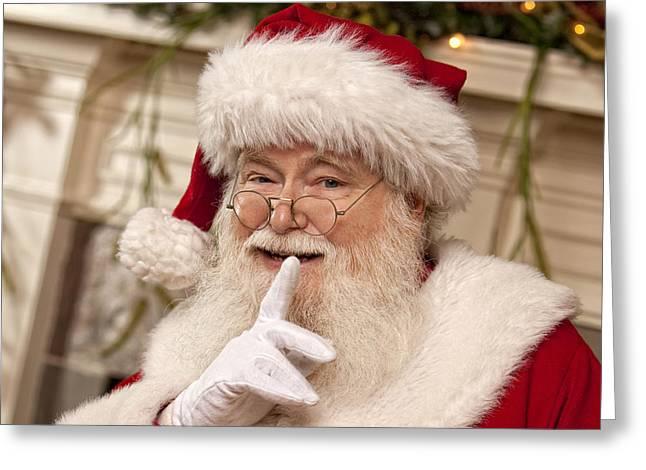 Santa Claus Greeting Card by Doc Braham