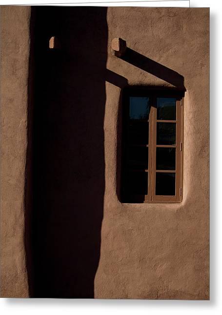 Santa Fe Light And Shadow Greeting Card by Elena Nosyreva