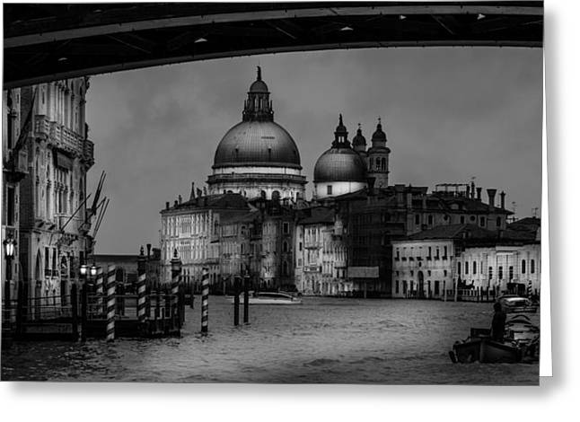 Santa Maria Della Salute At The Grand Canal Venice Greeting Card by Colin Utz