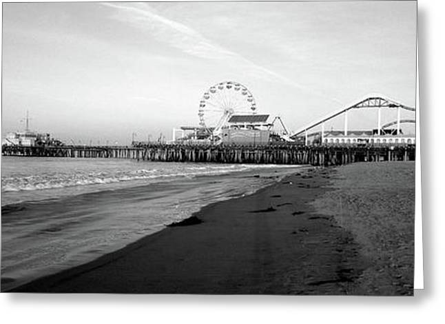 Santa Monica Pier, California, Usa Greeting Card by Panoramic Images