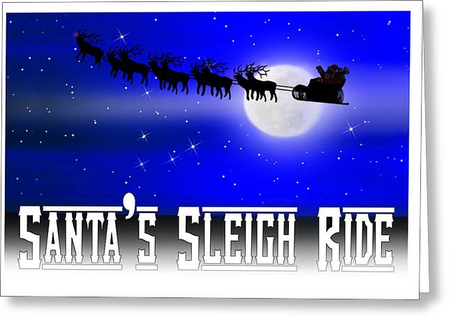 Santa's Sleigh Ride Greeting Card