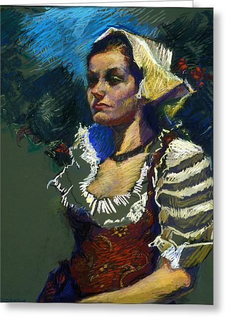 Sardinian Woman Greeting Card