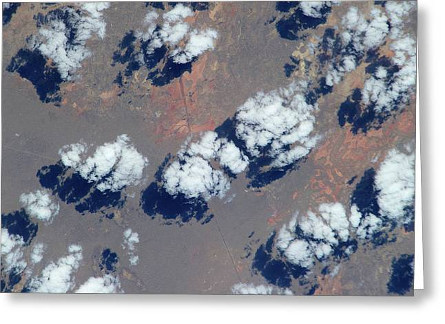 Satellite View Of Clouds Greeting Card