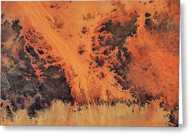 Satellite View Of Sahara Desert, New Greeting Card
