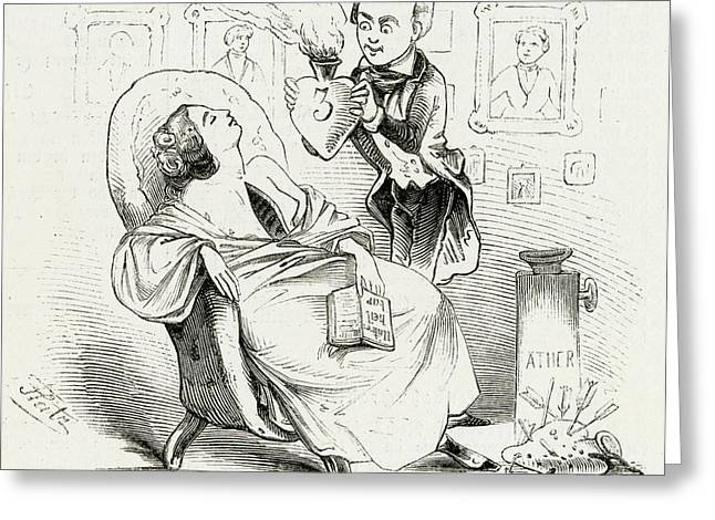 Satireresults Of Ether - Surgery Greeting Card by Mary Evans Picture Library