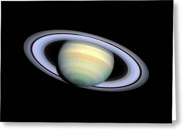 Saturn Greeting Card by Damian Peach
