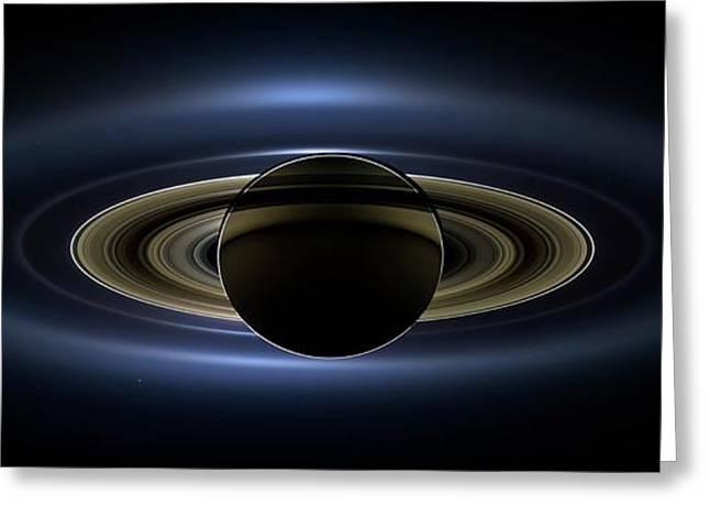 Saturn Greeting Card by Nasa/jpl-caltech/ssi