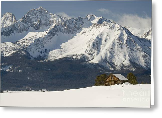Sawtooth Mountains Greeting Card by William H. Mullins