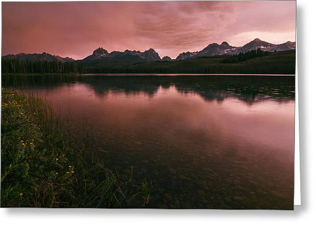 Sawtooth Sunset Greeting Card by Vishwanath Bhat
