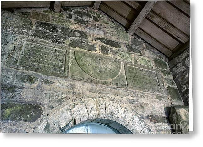 Saxon Sundial Greeting Card by Martin Bond