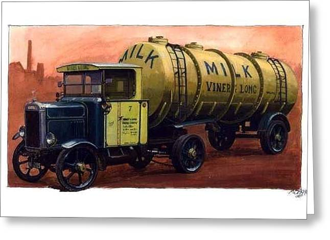 Scammell Frameless Tanker. Greeting Card by Mike  Jeffries