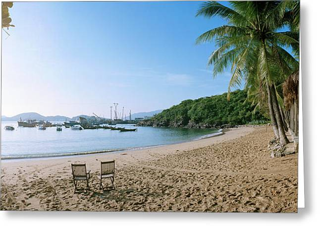 Scenic View Of Beach At Bao Dai Villa Greeting Card by Panoramic Images