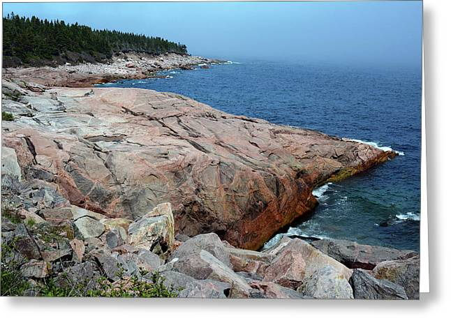 Scenic View Of Exposed Bedrock Greeting Card