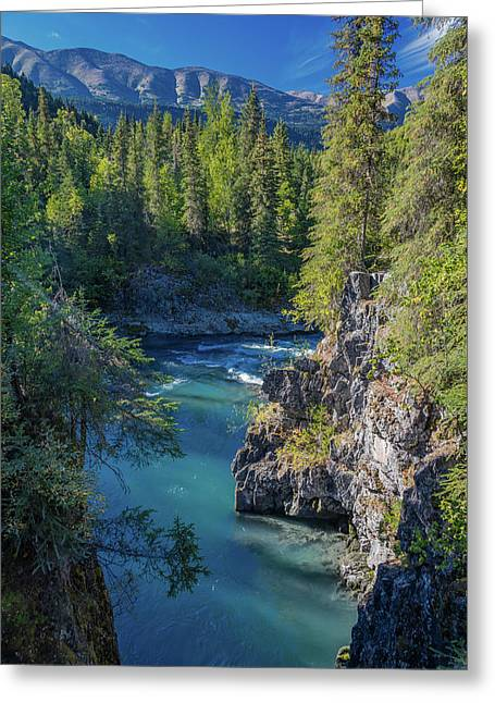 Scenic View Of The Kenai Mountains Greeting Card