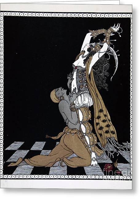 Scheherazade Greeting Card by Georges Barbier