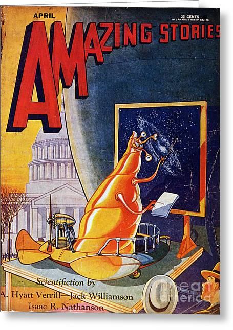 Science Fiction Cover 1930 Greeting Card by Granger