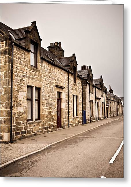 Scottish Houses Greeting Card by Tom Gowanlock