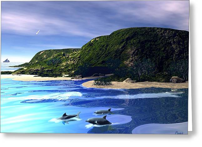 Sea Cave Greeting Card by John Pangia